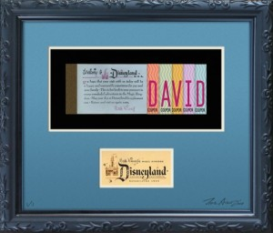 D23 Dream Ticket Frame