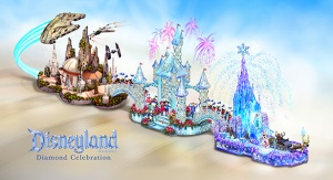 Disneyland Diamond Celebration Rose Parade Float