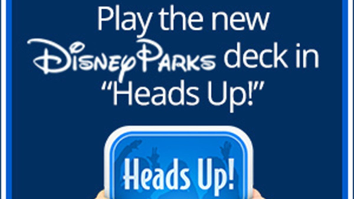 New Disney Parks Themed Deck Now Available for Heads Up! App