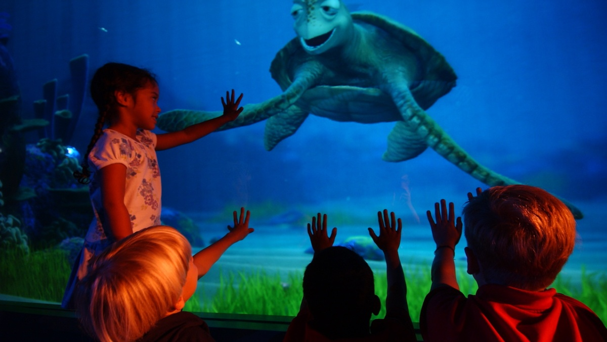 Characters from Disney•Pixar's 'Finding Dory' Join 'Turtle Talk with Crush' This Summer