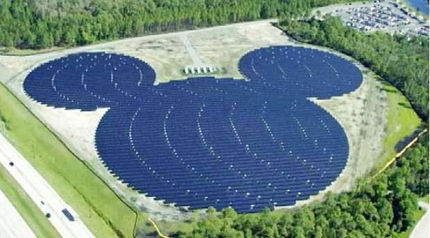 Mickey-Shaped Solar Facility Goes Online at Walt DisneyWorld
