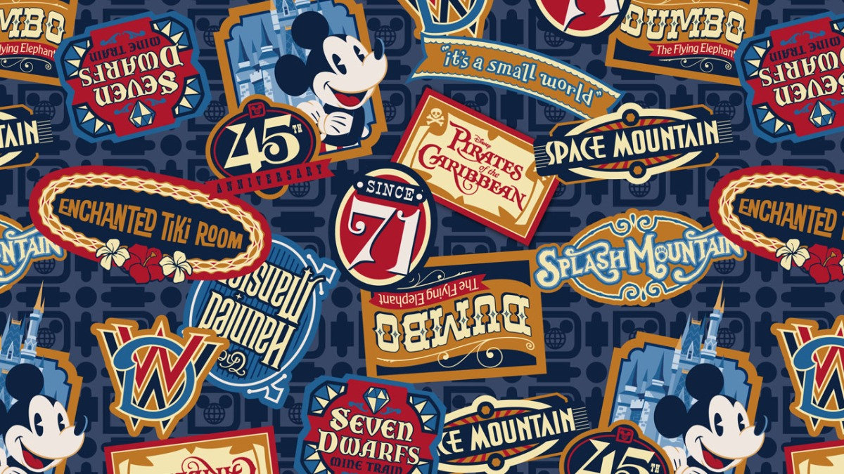 Walt Disney World Gives First Look at Magic Kingdom 45th Anniversary Merchandise Artwork