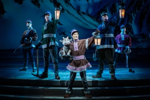 YOUNG KRISTOFF AND SVEN IN 'FROZEN – LIVE AT THE HYPERION' -- A new theatrical interpretation for the stage based on Disney's animated blockbuster film, Frozen is now playing at the Hyperion Theater at Disney California Adventure Park. The show immerses audiences in the emotional journey of Anna and Elsa with all of the excitement of live theater, including elaborate costumes and sets, stunning special effects and show-stopping production numbers. (Piotr A. Redlinski/Disneyland Resort)