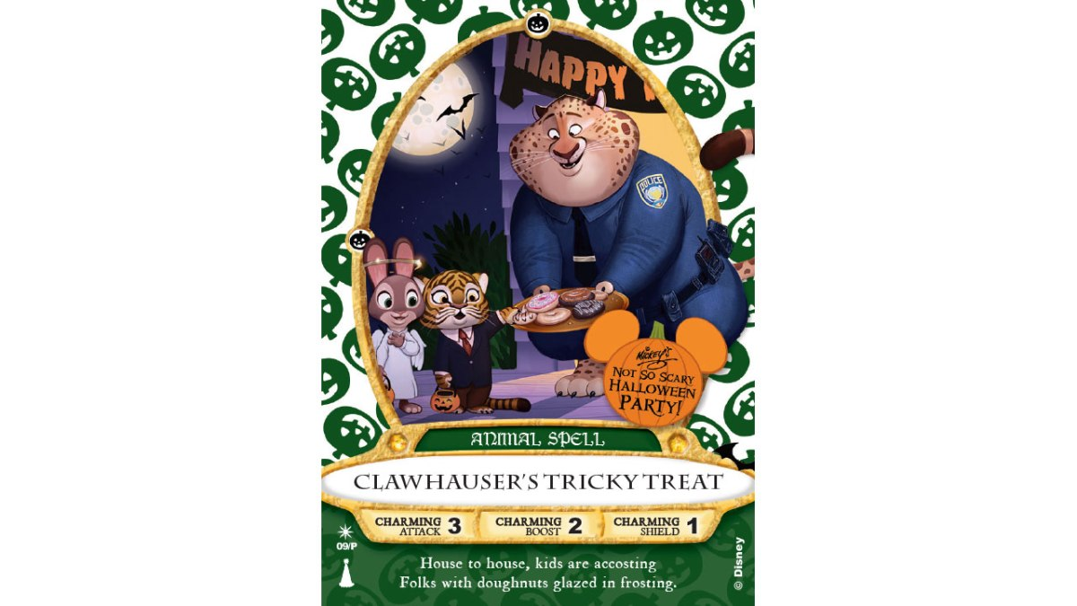 'Clawhauser' Sorcerers of the Magic Kingdom Card To Be Released At Mickey's Not-So-Scary HalloweenParty