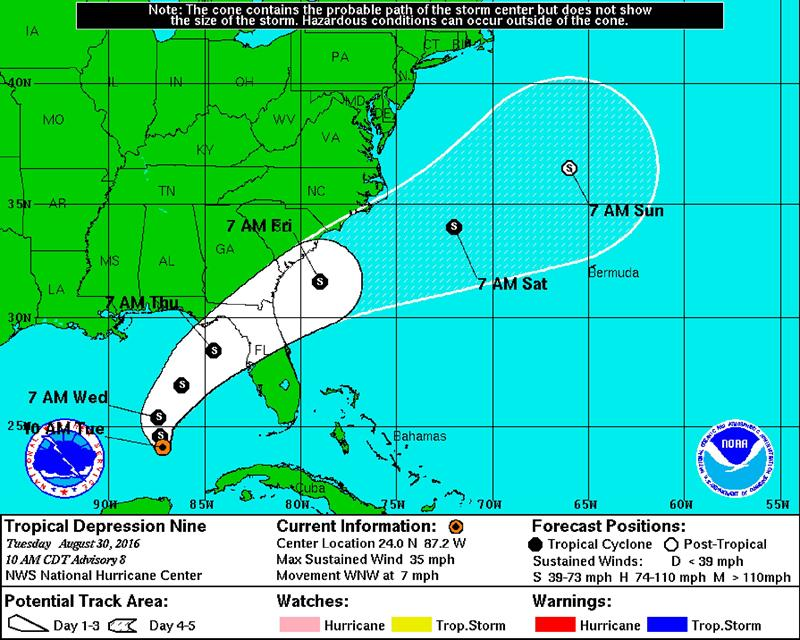 Tropical Depression NINE to Likely Impact Florida Theme Parks Later thisWeek