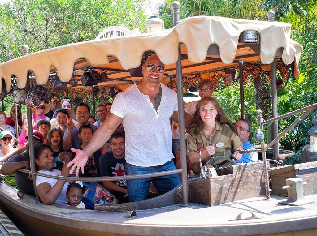 Dwayne Johnson Surprises Disney World Tourists and Commandeers Jungle Cruise Ride
