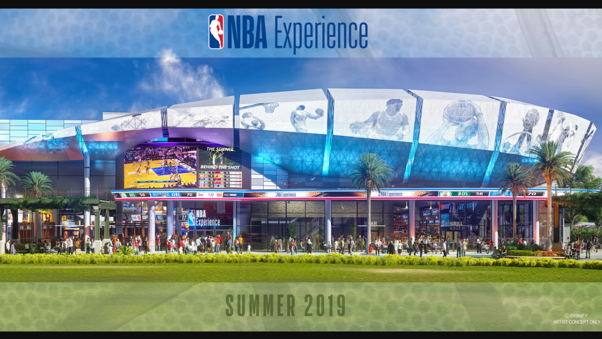 Disney Shows off Concept Art for 'The NBA Experience' and AnnouncesOpening
