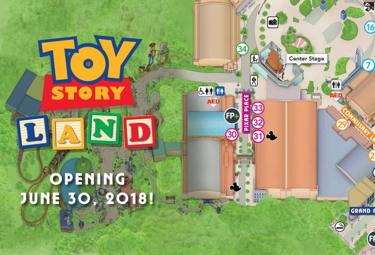 Disney's Hollywood Studios Guide Maps Now Show Toy StoryLand