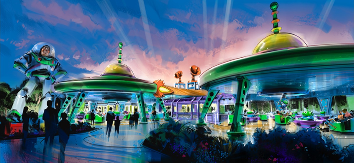 Walt Disney World Buries the Lead with First Glimpse of Alien Swirling Saucers