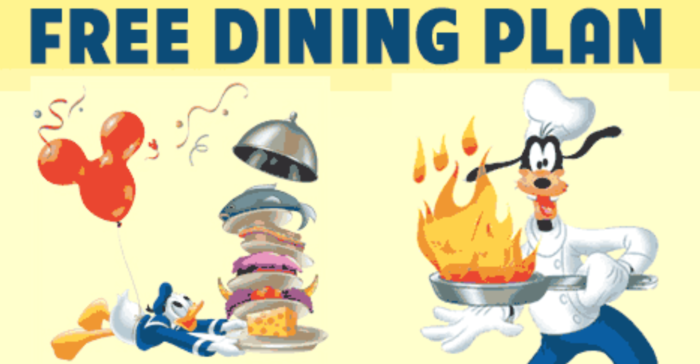 Free Dining Plan Now Available for Booking at WDW Resort Hotels
